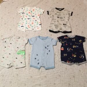 Set Of 5 Rompers